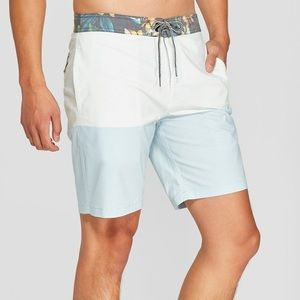 GOODFELLOW mens Blue and green board shorts